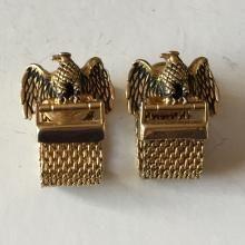 Vintage Eagle shape with mesh part cufflinks