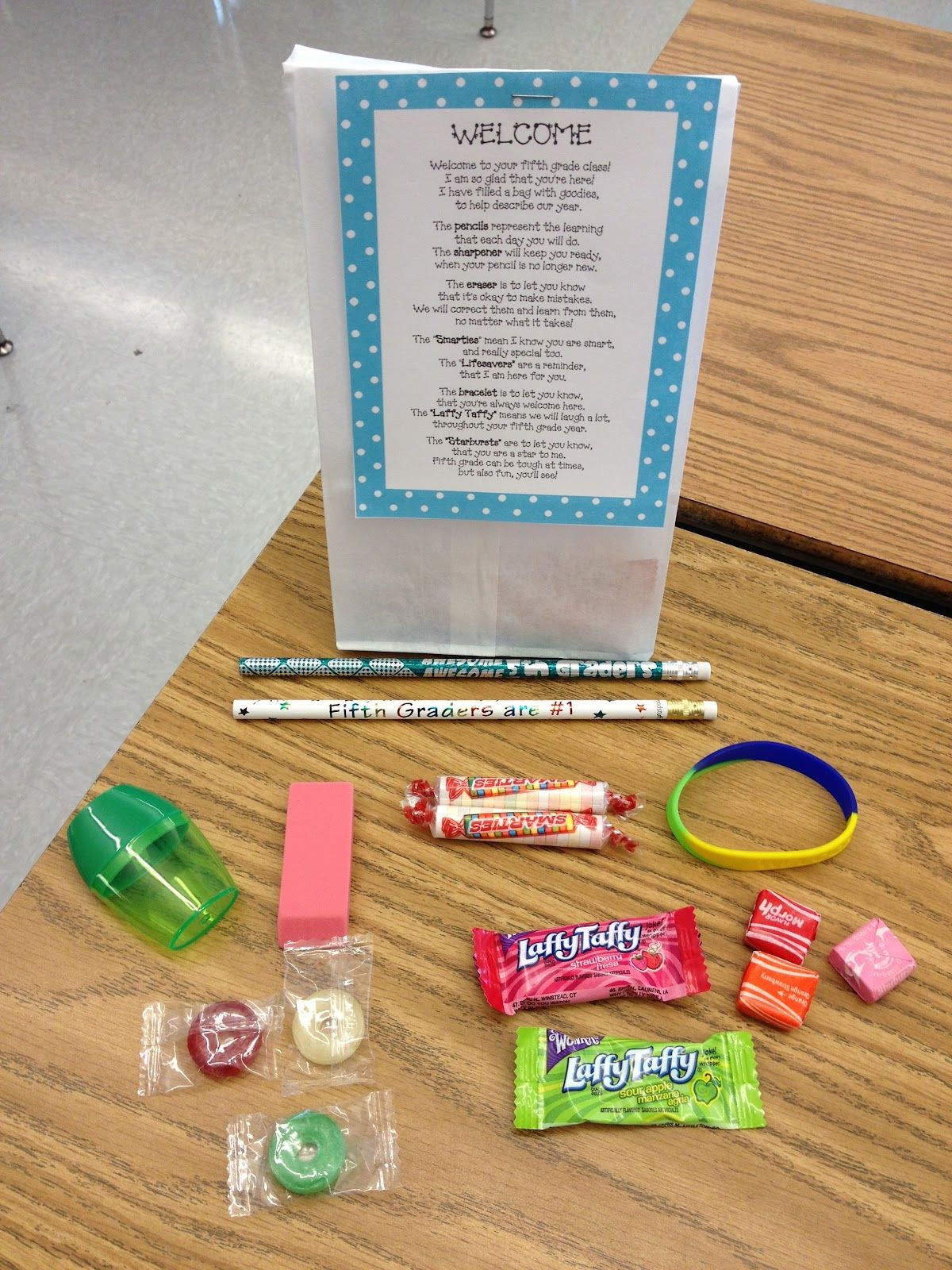Bags for school teachers - Welcome Back Poem Goodie Bag For The Beginning Of The School Year I