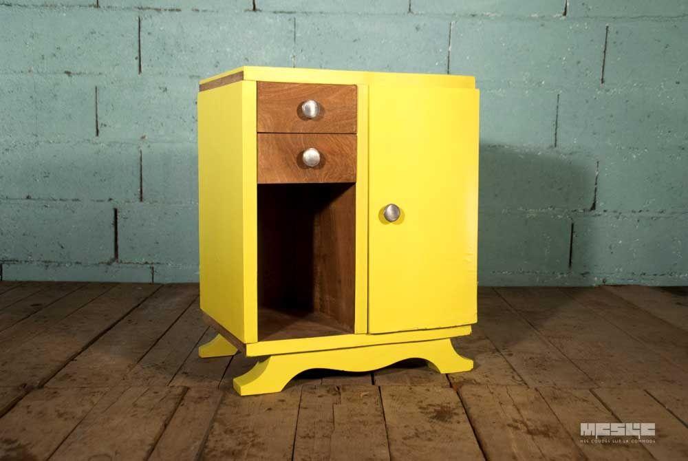 L 39 association de mati re bois et de jaune fluo sur un meuble des ann es 30 conf re toute son - Meuble des annees 30 ...