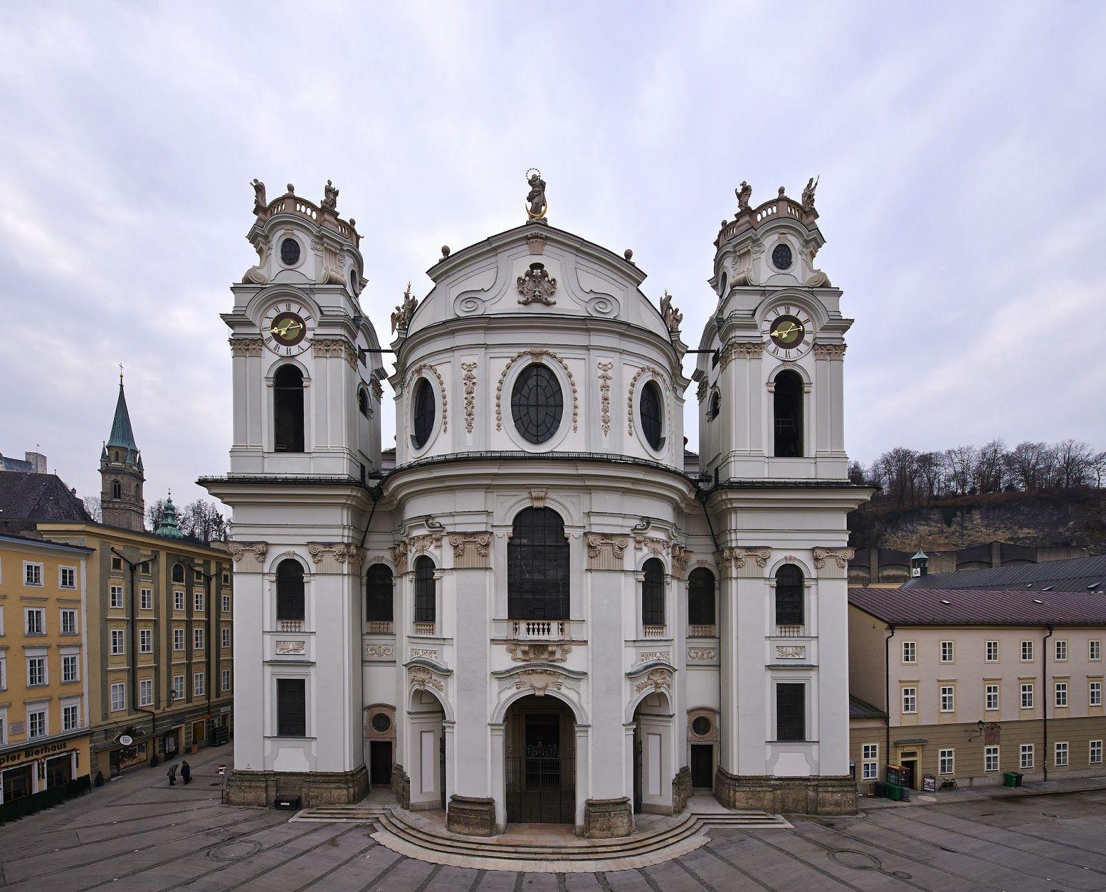 Baroque architecture austria kollegienkirche salzburg for Baroque architecture in italy