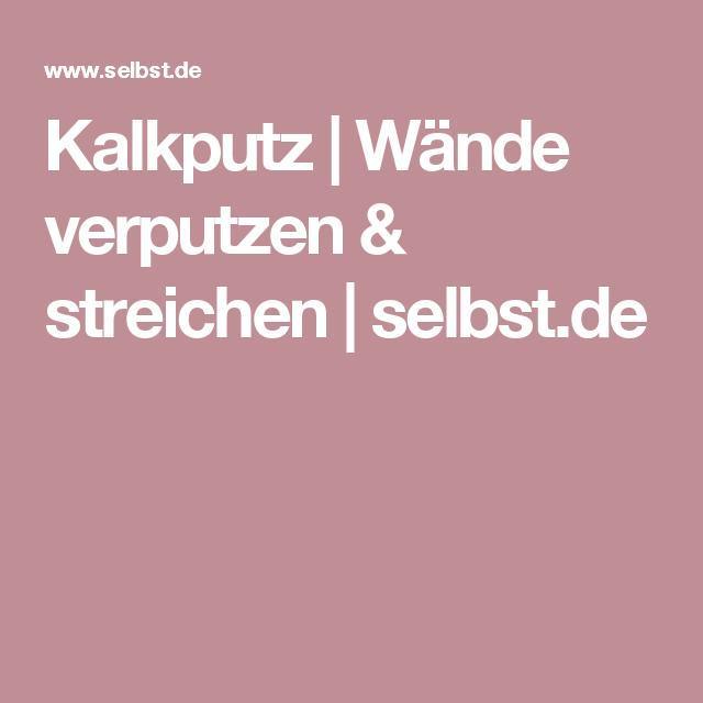 Kalkputz | Wände Verputzen U0026 Streichen | Selbst.de