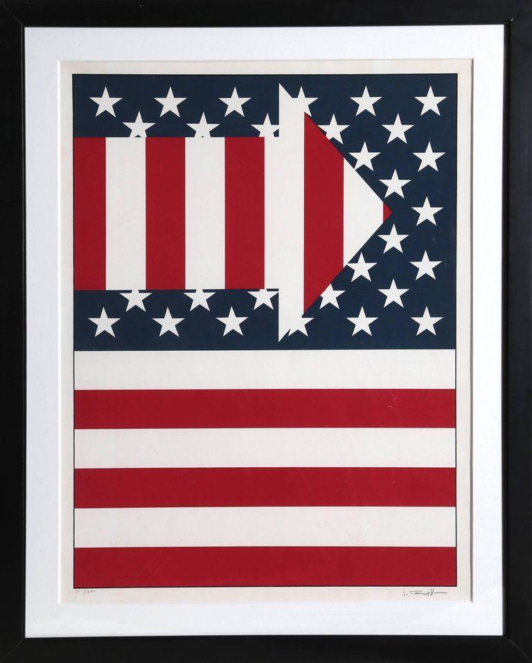 Paul Von Ringelheim American Flag Iii American Flag Flag Abstract