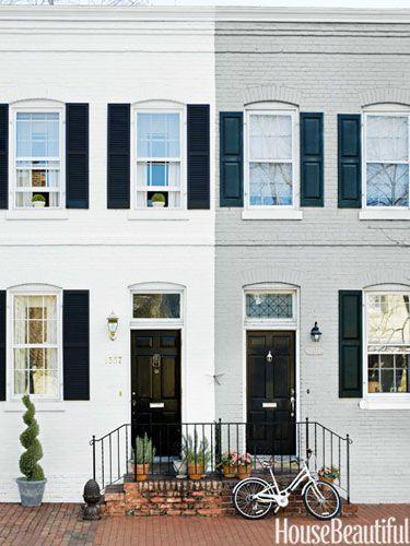 A Sunny Row House Row House Design Brick House Colors Townhouse Exterior