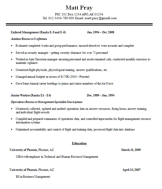 military resume sample free template professional builder badak - Military Resume Builder Free