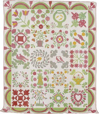 quilts Did you know that applique quilts were made for company as they were more expensive to make? You can judge the quality of a quilt by the number of stitches per inch.