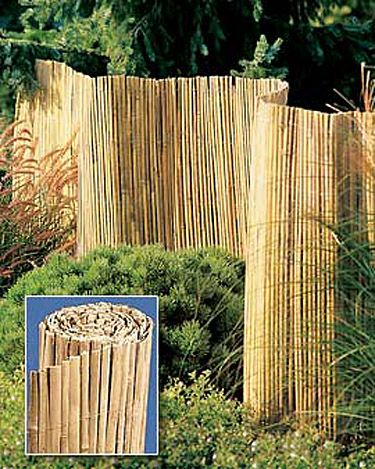 Bamboo Fence Used As An Inexpensive Cover Up To Disguise An Ugly Part Of A  Garden