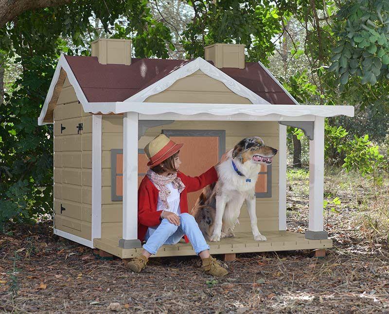 Casa Para Perro Grande De Madera Casetas Para Perros Wooden Dog - Caseta-para-terraza