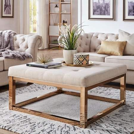 Home In 2020 Fabric Coffee Table Leather Cocktail Ottoman Ottoman