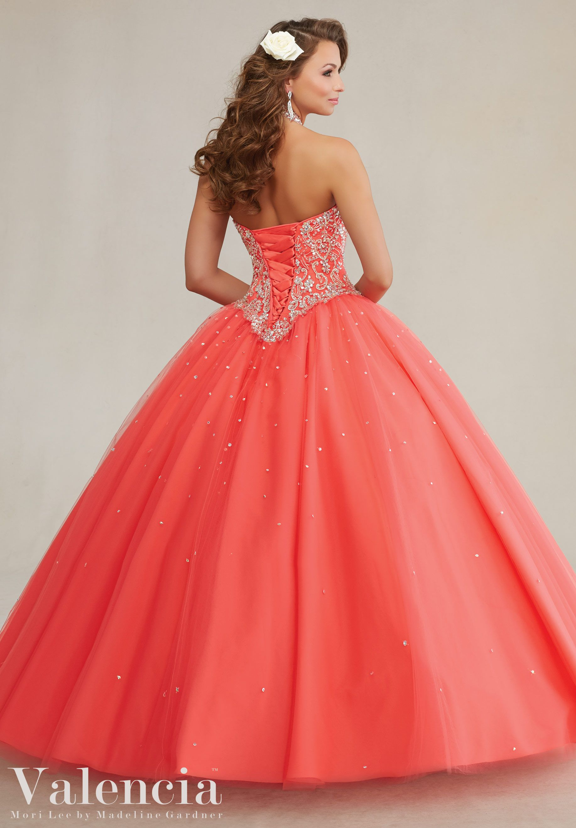 Colors Available Coral, Pink Panther, Freeze And White Quinceanera Dresses