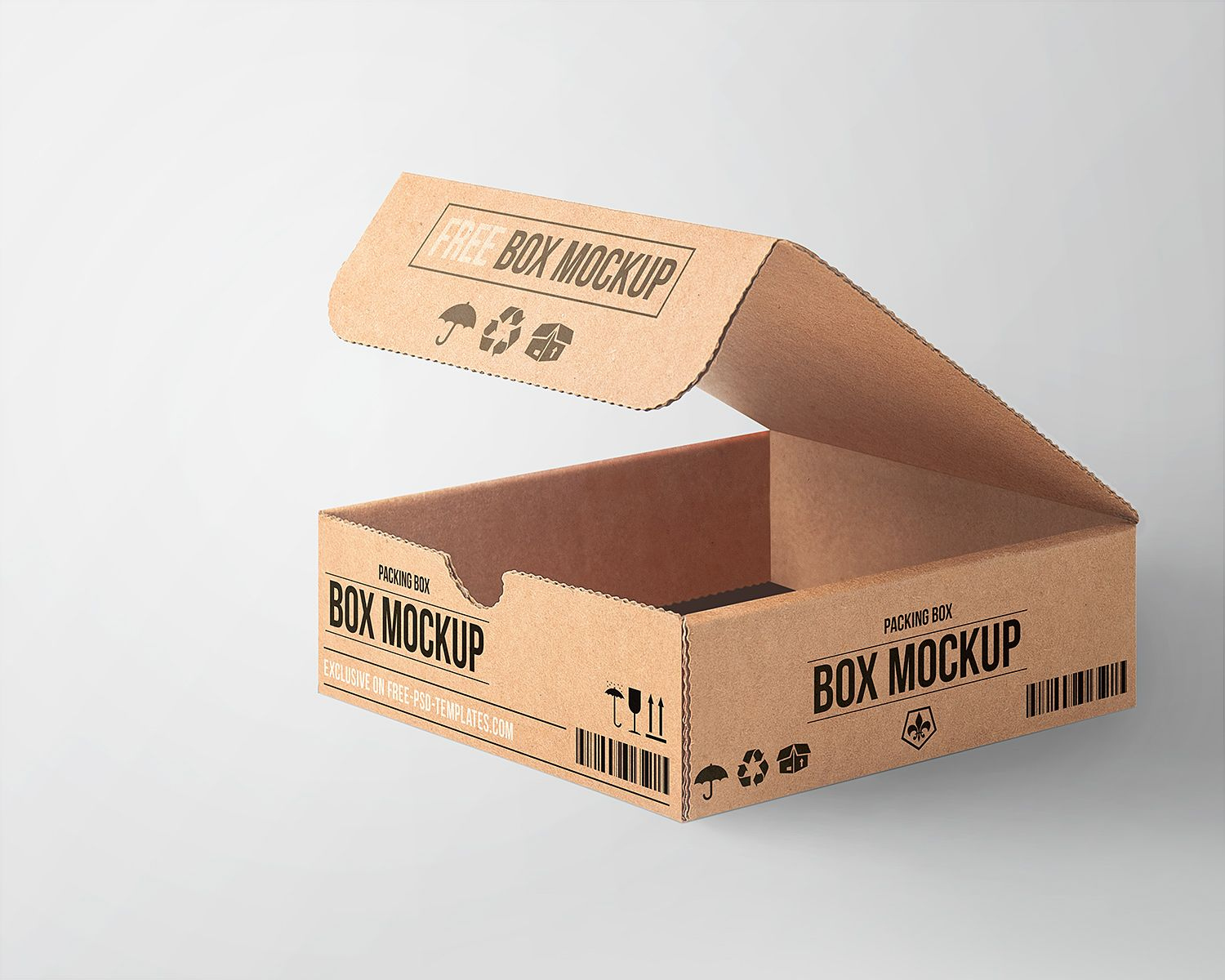 Download Free Cardboard Box Mockup Mockup
