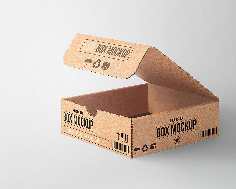 Download Free Cardboard Box Mockup Mockup