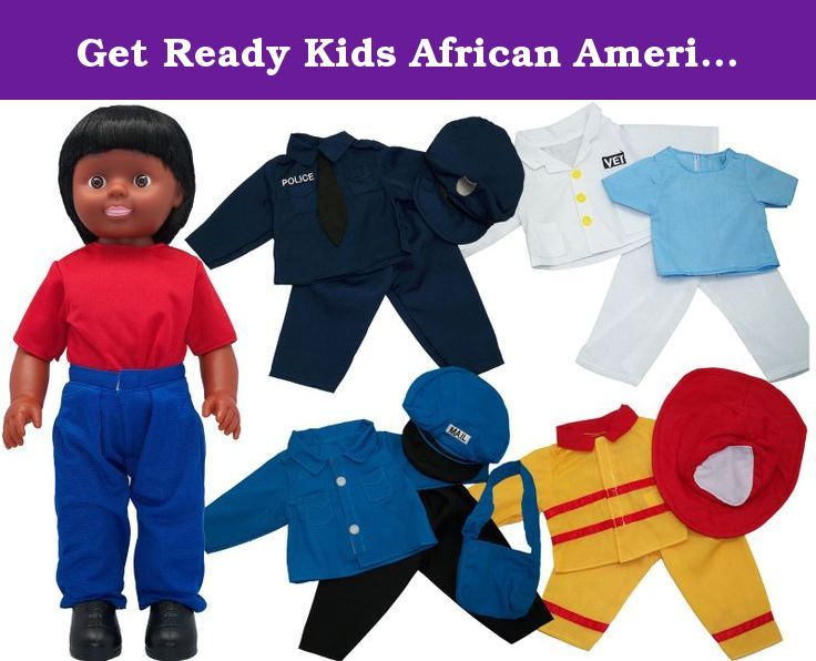1f125dd2cade Get Ready Kids African American Boy Doll with Career Clothes Set ...