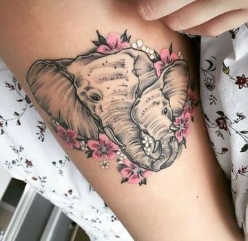 Sugar skull elephant tattoo Tattoos t Tatuajes Elefantes