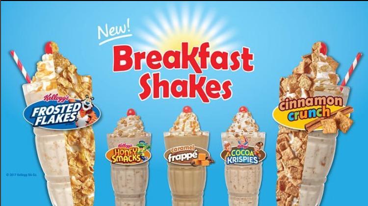 New Cereal Breakfast Shakes from Steak 'n Shake