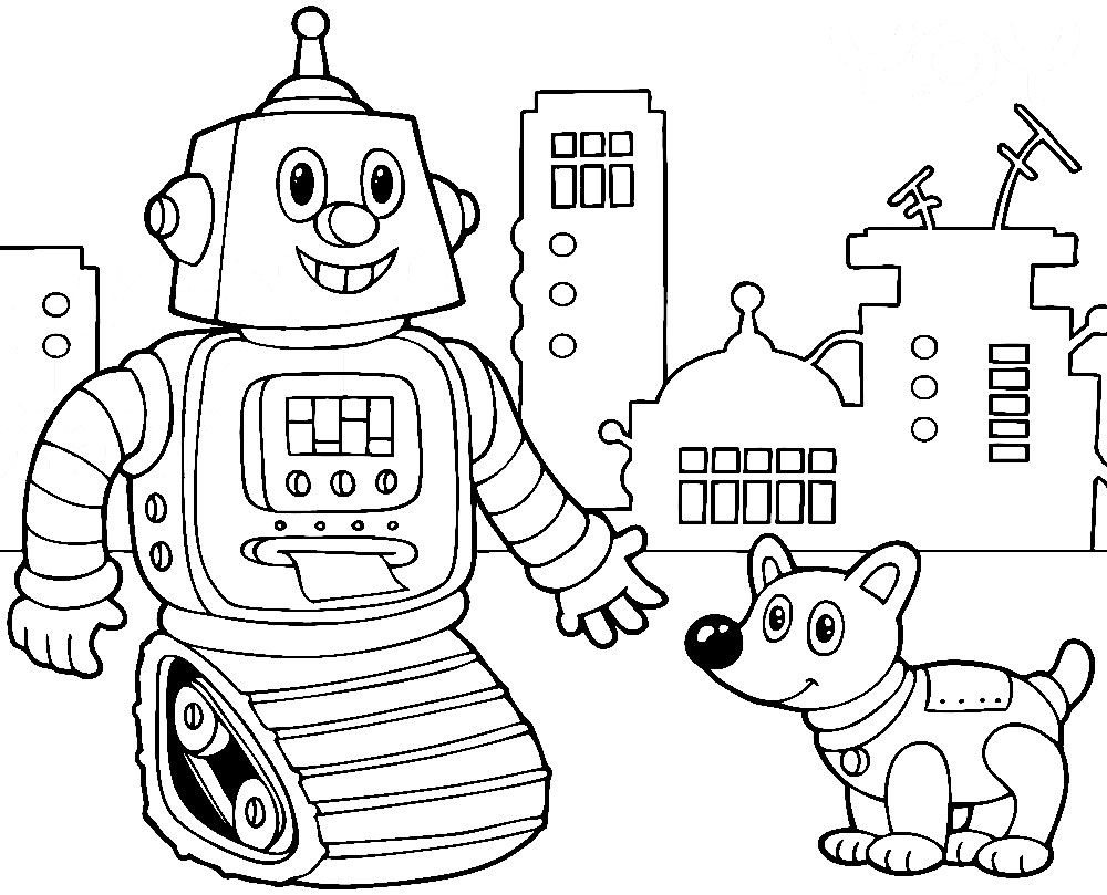 Robo Desenhos Para Colorir Infantis Para Desenvolvimento Motor