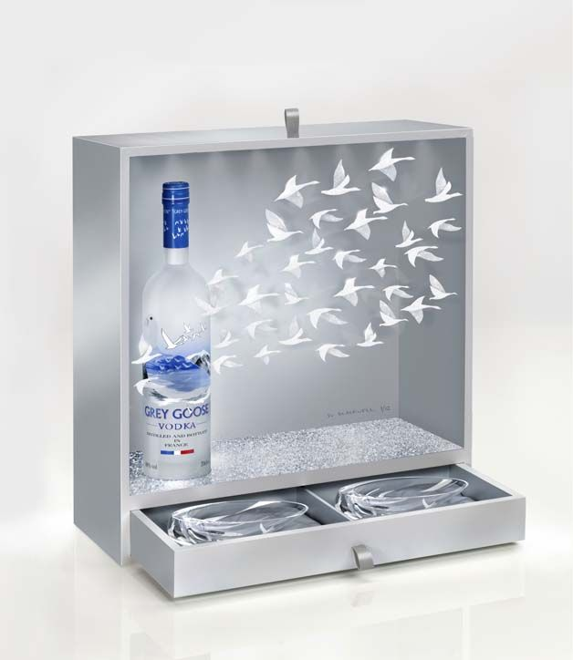 grey goose x su blackwell wine liquor pinterest coffret vin et eau de. Black Bedroom Furniture Sets. Home Design Ideas
