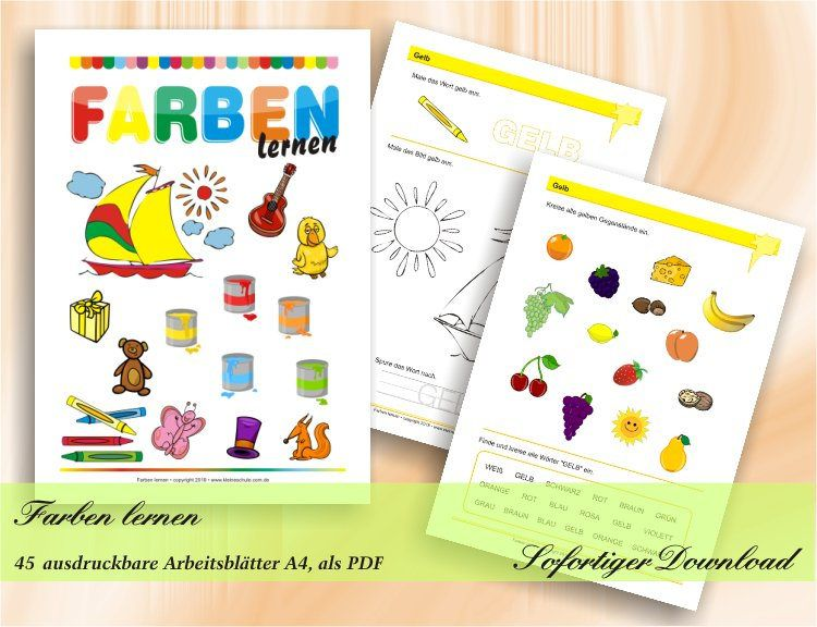 Farben lernen - die ersten Übungen zu Farben - Vorschule und ...