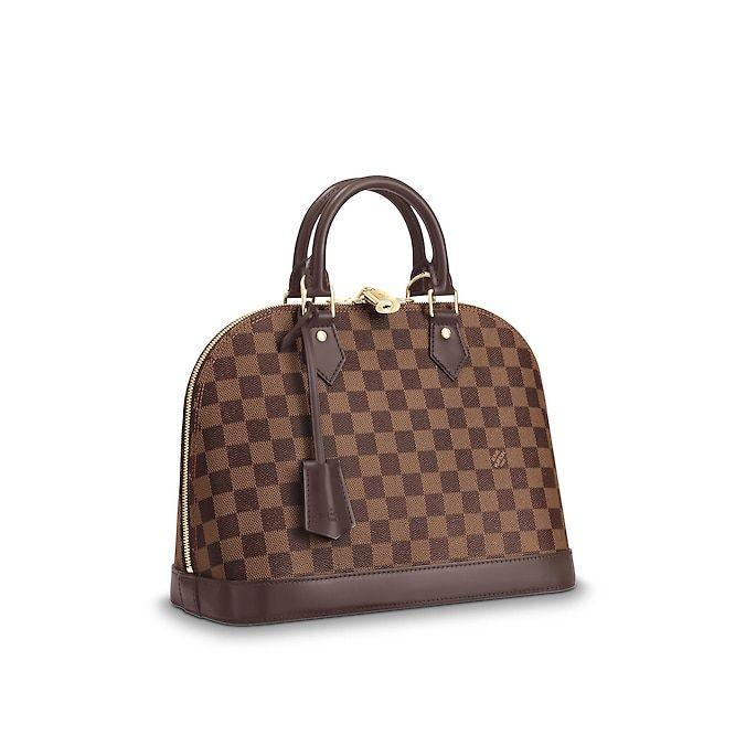 2eb23fbdf532 Alma PM Damier Ebène Canvas in Women s Handbags Top Handles collections by  Louis Vuitton