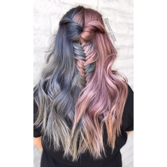 Split Personality Behindthechaircom Vibrant Hair Color