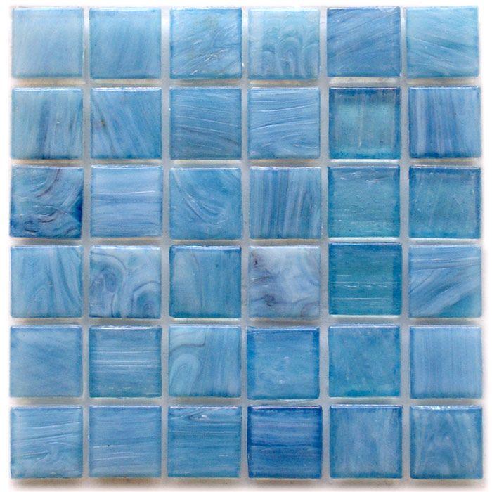 Hakatai Calliope Hydrangea 0.625 x 0.625 Glass Mosaic Tile   Glass ...