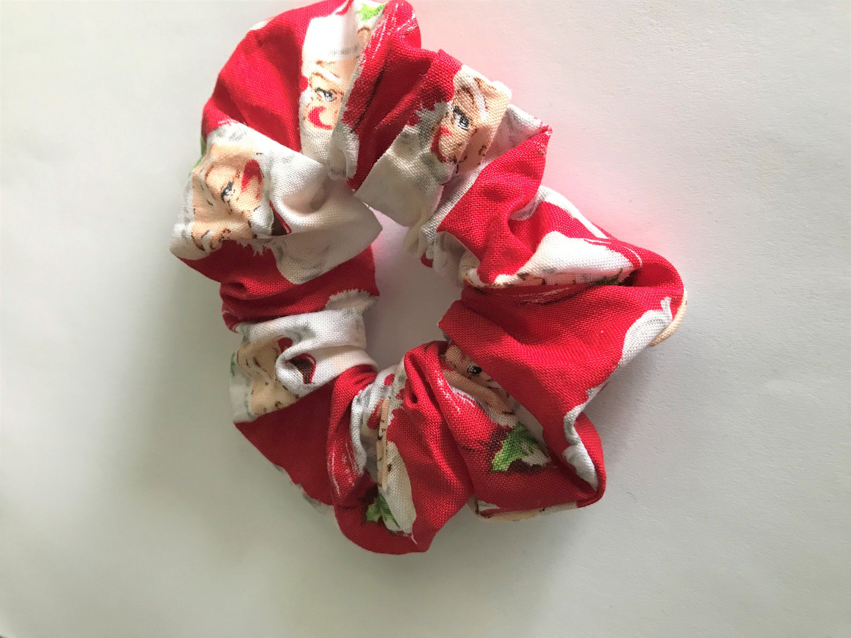Christmas Scrunchie Santa Claus Hair Ties Messy Bun