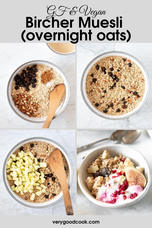 Gf Vegan Bircher Muesli Overnight Oats Recipe Recipes