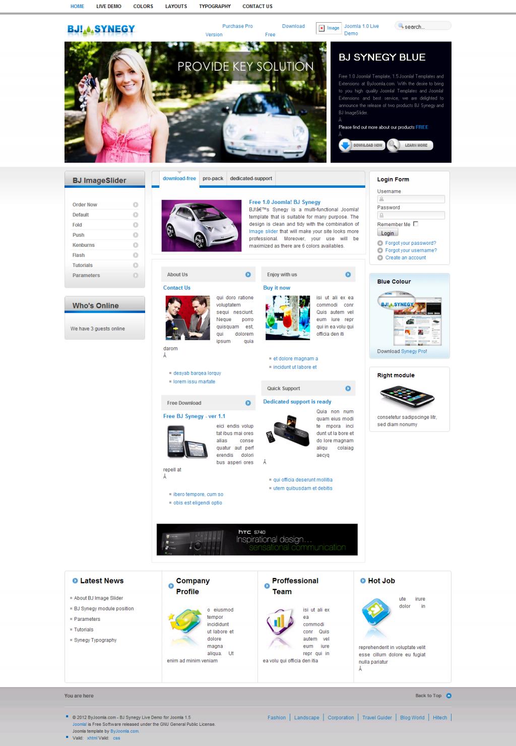 Free Premium Joomla 2.5 & 3.0 Templates - Download Full Themes ...