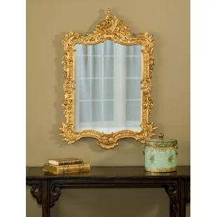 Design Toscano Madame Antoinette Salon Accent Mirror Wayfair Ornate Mirror Accent Mirrors Crown Wall Decor