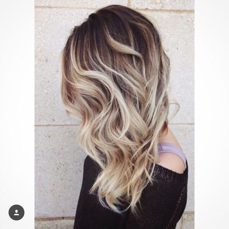 Brown Roots With Blonde Hair Color Pinterest Hair Blonde Hair