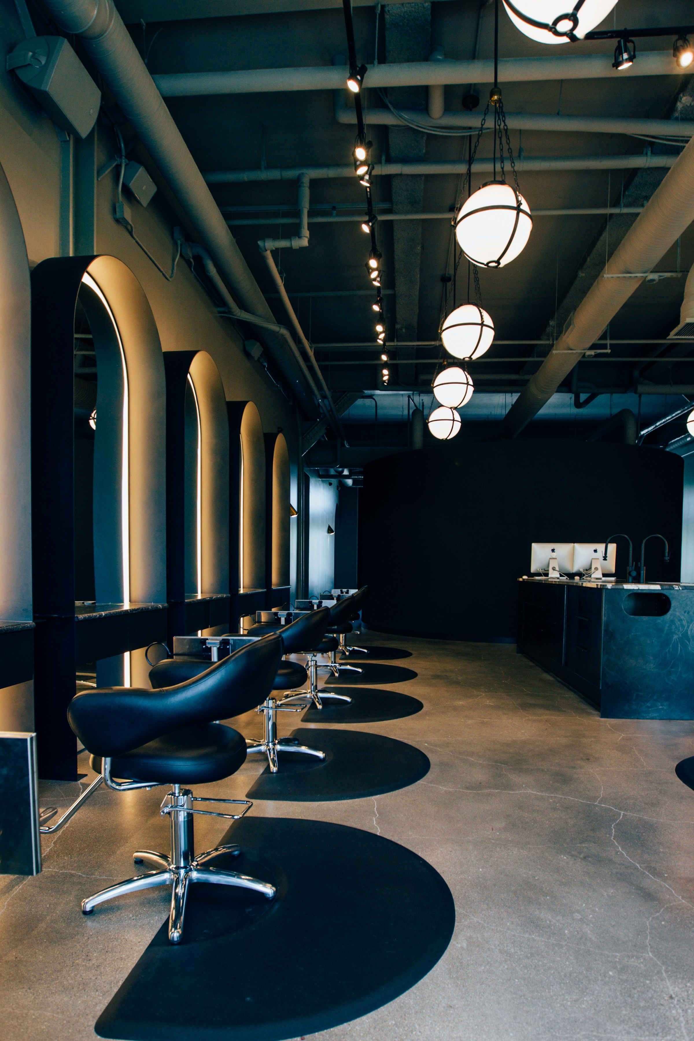 Best Lighting For A Salon Salon Interior Design Beauty Salon Interior Salon Interior