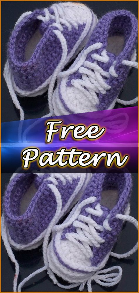 Baby Converse Crochet Free Pattern Shoes Crocheting And Knitting