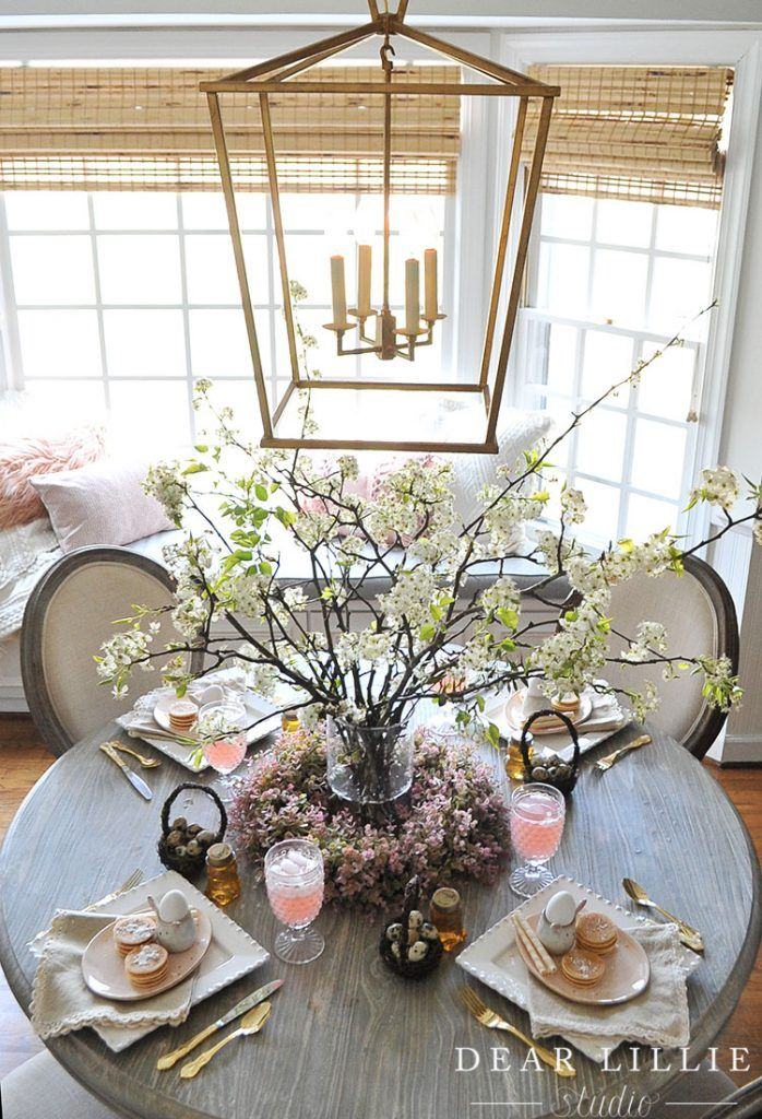 A Whimsical Easter Brunch Table Setting