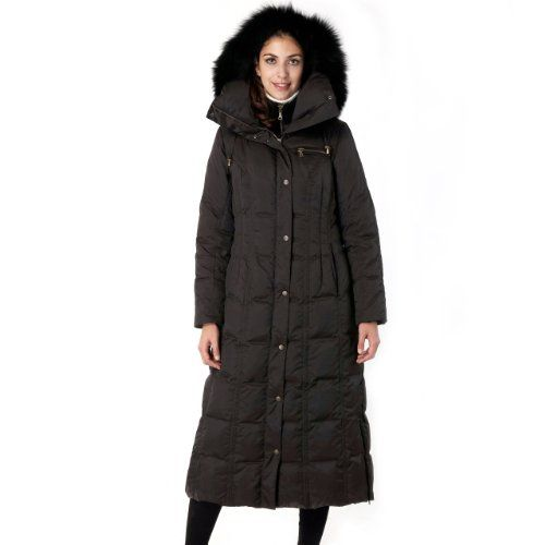 BGSD #Women's Thinsulate Filled Hooded Long Coat with Fox Fur Trim ...
