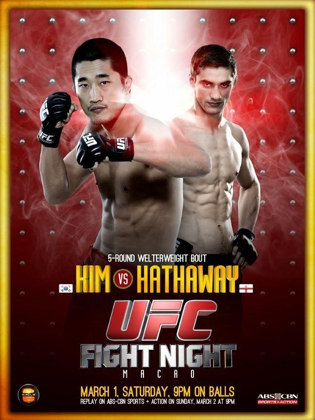 Ufc Fight Night Macao Ufc Fight Night Ufc Poster Ufc