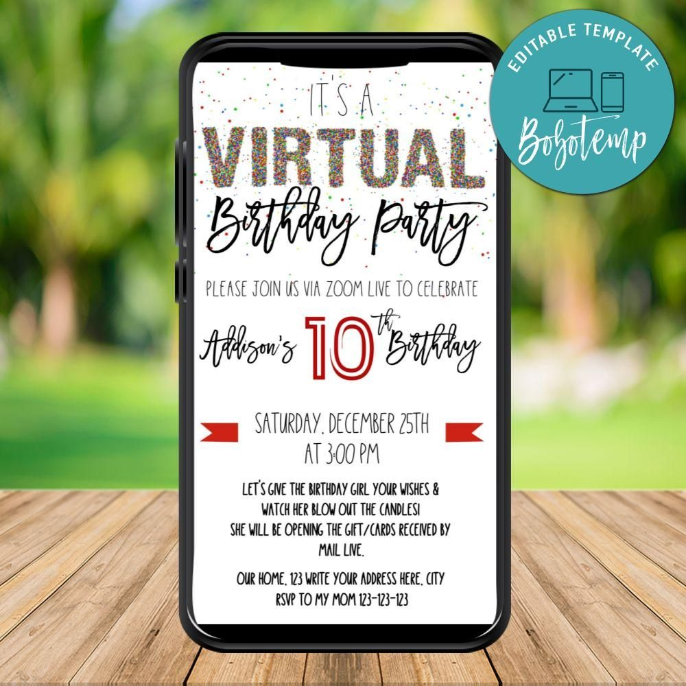 Pin On Www Bobotemp Com Create Your Own Custom Birthday Invitation