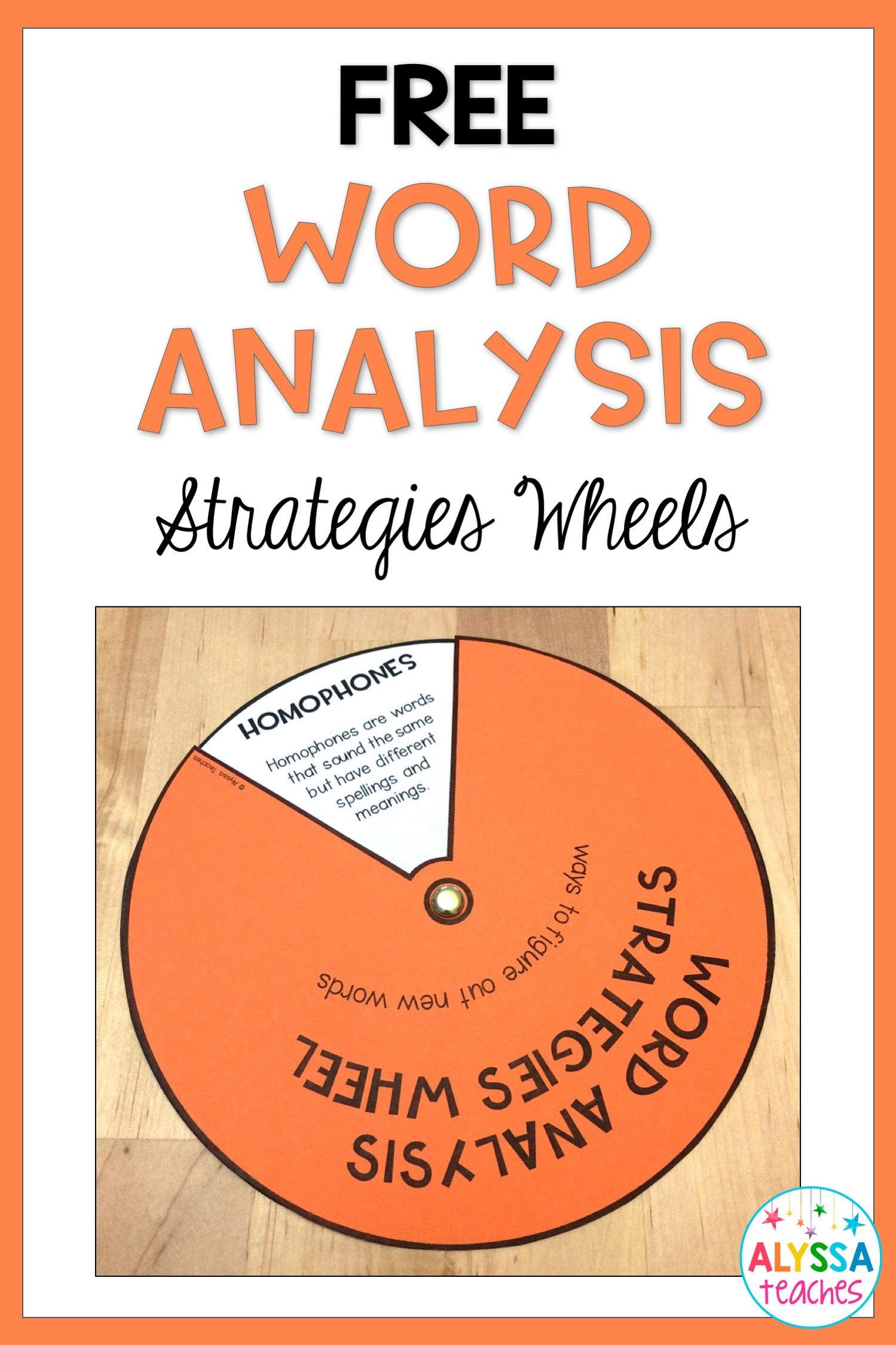 Worksheets Word Wise  With Synonym ,antonym,homophone these free word analysis strategies wheels are great reference tools for synonyms antonyms homophones