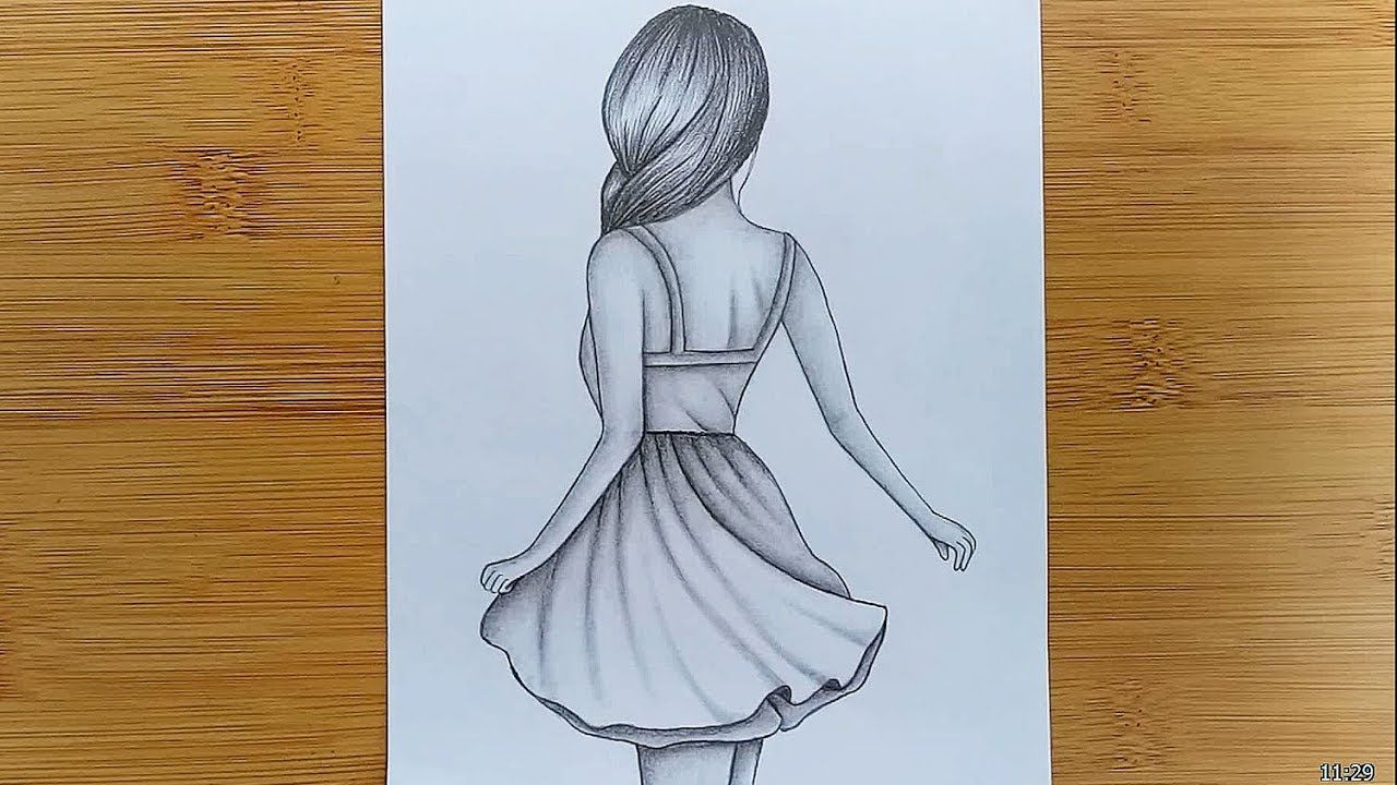 How to draw easy Girl Drawing for beginners - Step by step ...