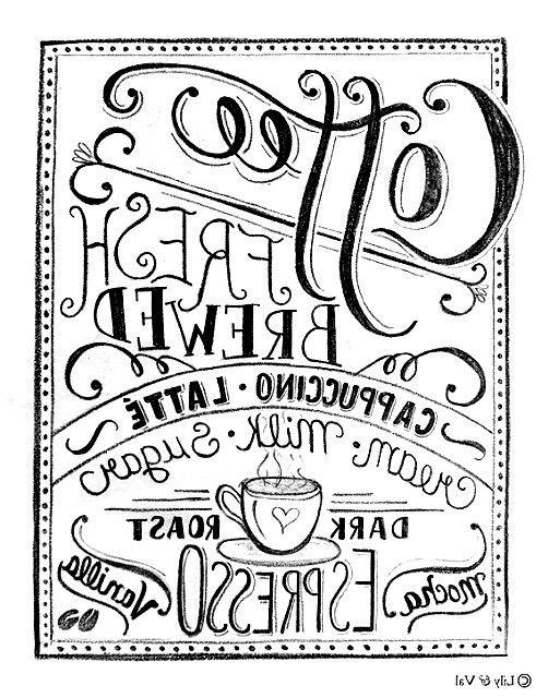 Coffee Sign Transfer Transferencias De Imágenes Sellos Tipografía Francesa