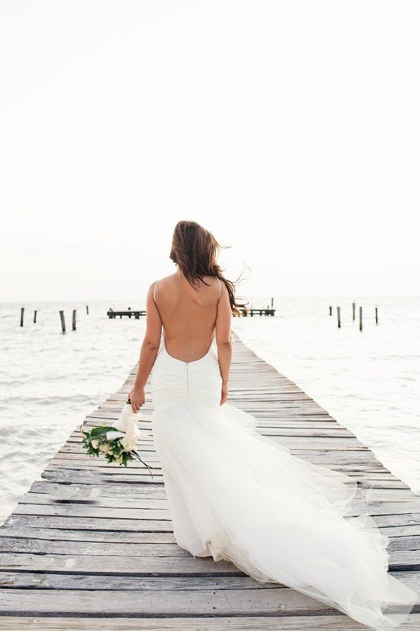 11 Beach Wedding Dresses For Your Oceanic Day