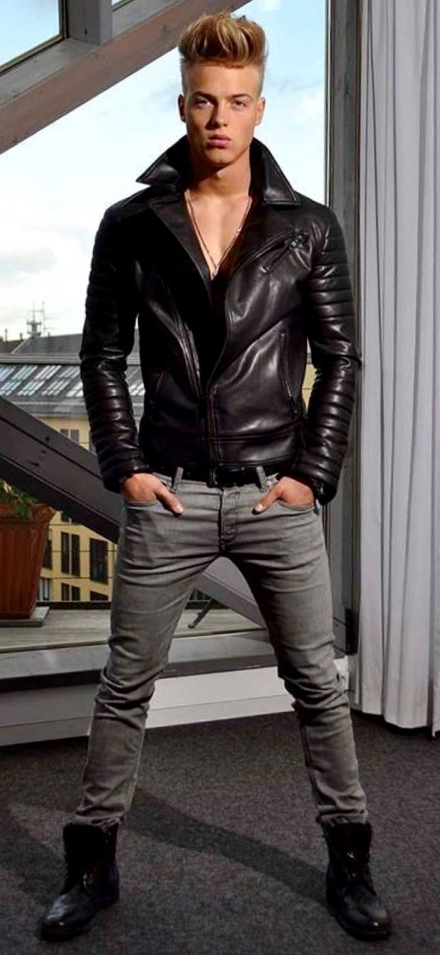 Pin Di Leonardo Cremon Su Jeans  Boys Leather Jacket -9547
