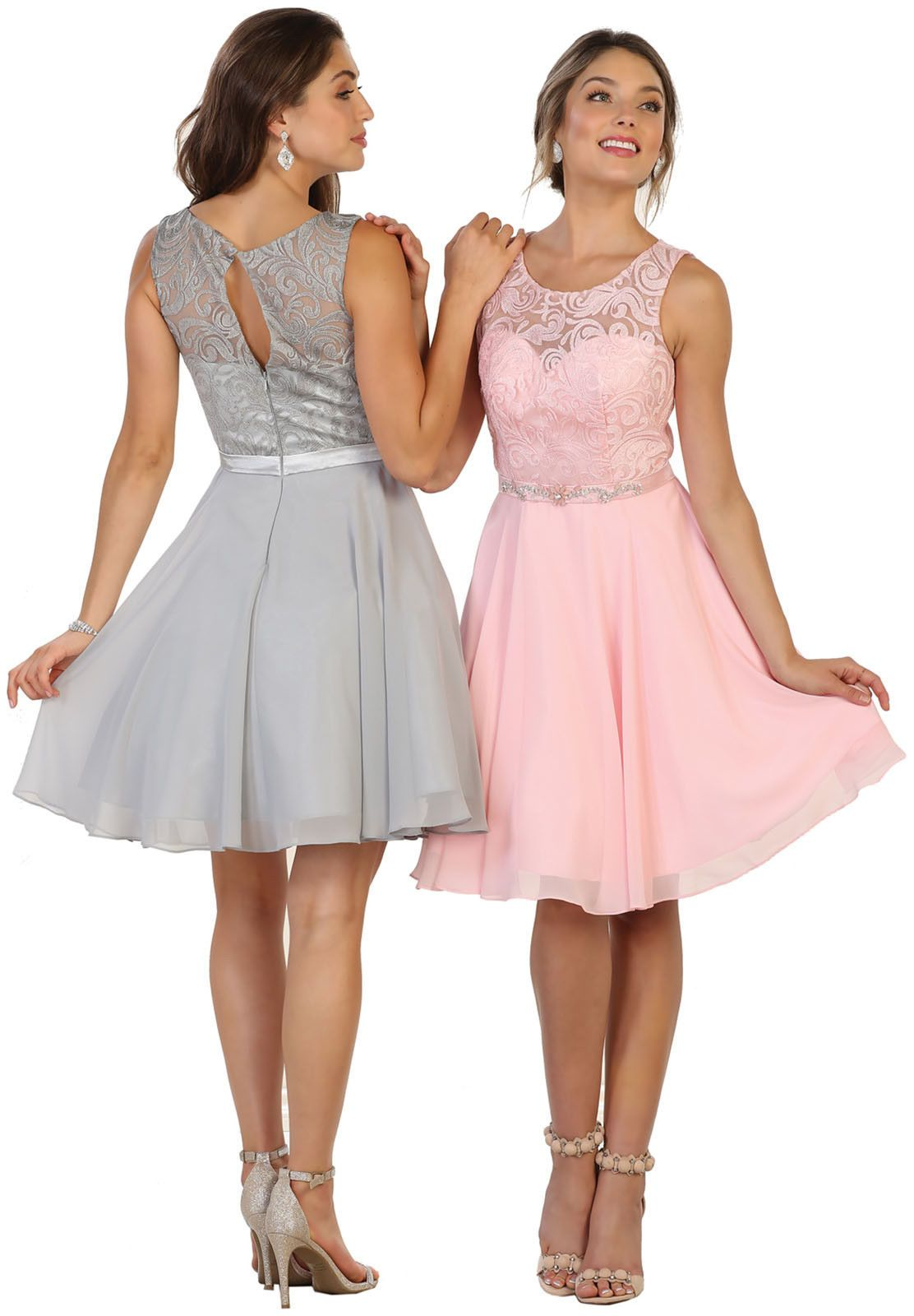 SEMI FORMAL DANCE COCKTAIL GRADUATION HOMECOMING PROM BRIDESMAIDS SHORT  DRESSES  DivaWear d332b6218