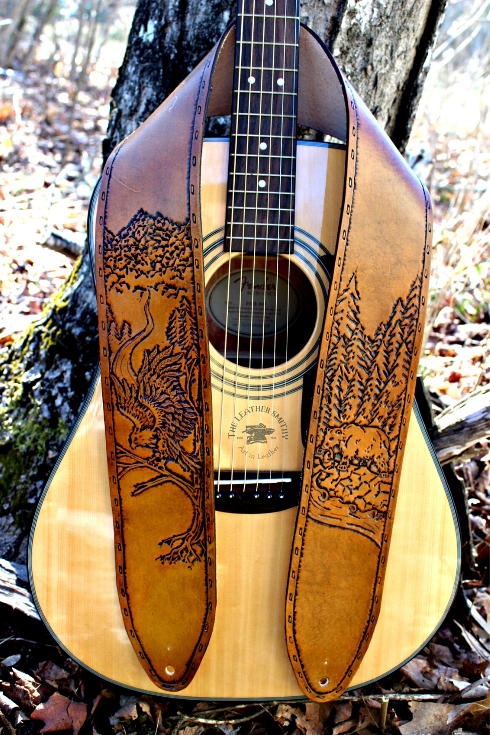 Custom Request Form Leather Guitar Straps Guitar Strap Hand Tooled Leather