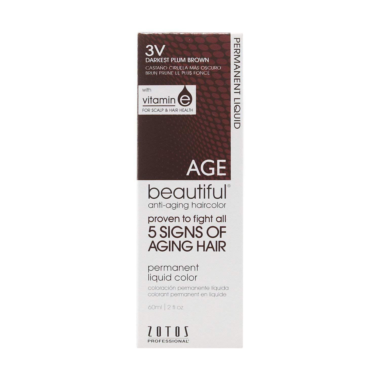 AntiAging 3V Dark Plum Brown Permanent Liquid Hair Color