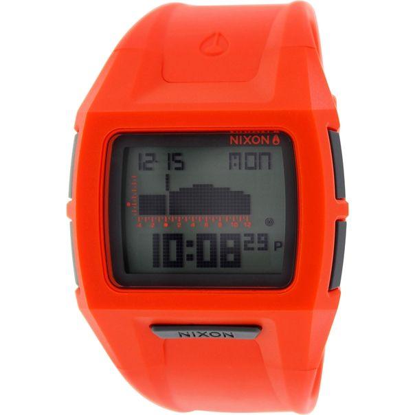 Nixon Men's Lodown A3641156 Orange Silicone Quartz Watch