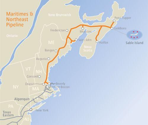 Map: Maritimes & Northeast Pipeline