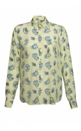 Silken Favours Silk Shirt (Denim)