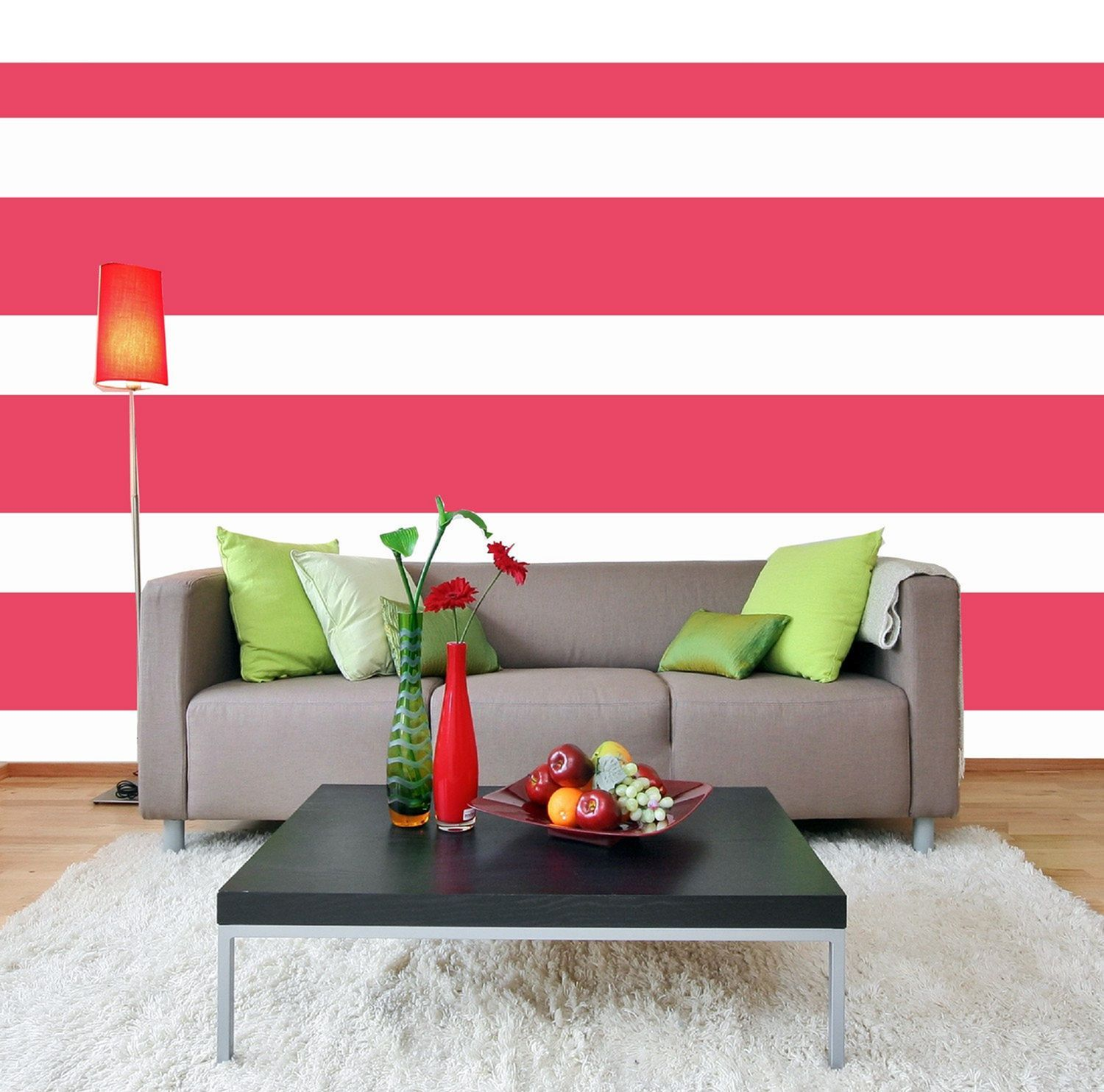 30 Most Attractive Striped Living Room Wall Paint Styles Wall