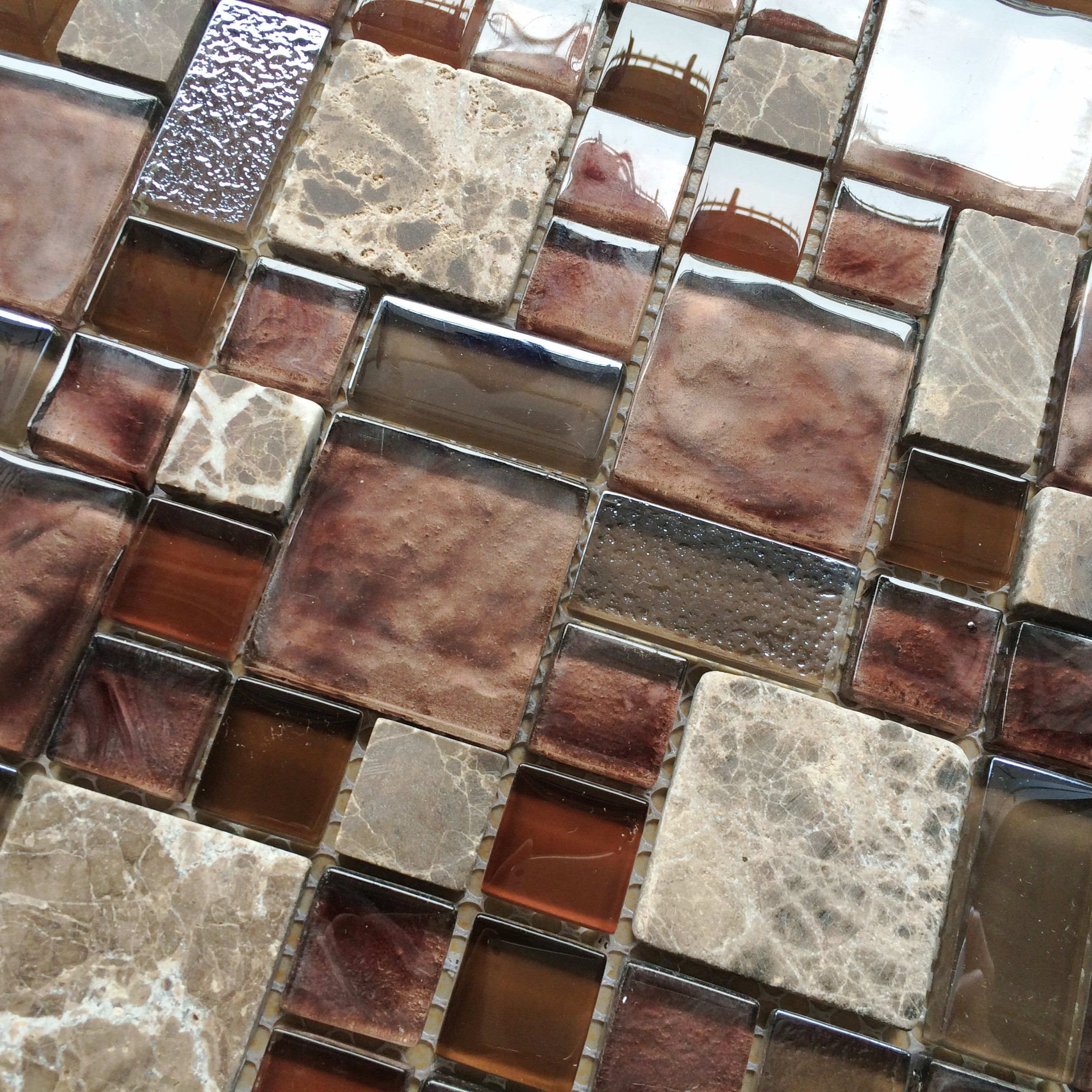 Glass Tiles In Bathroom: Burgundy Red Glass Mosaic Wall Tile Stone Mosaic Kitchen