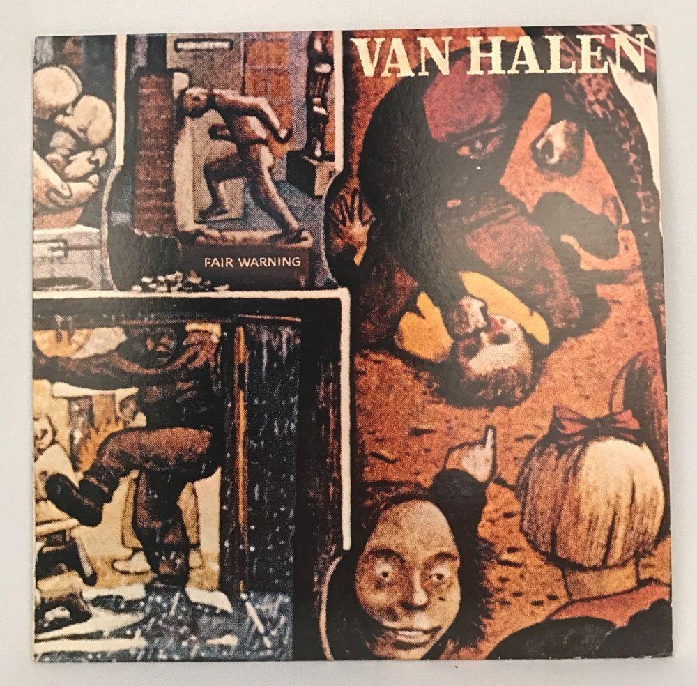 Van Halen Fair Warning 1981 Vinyl Record Warner Bros Vinili