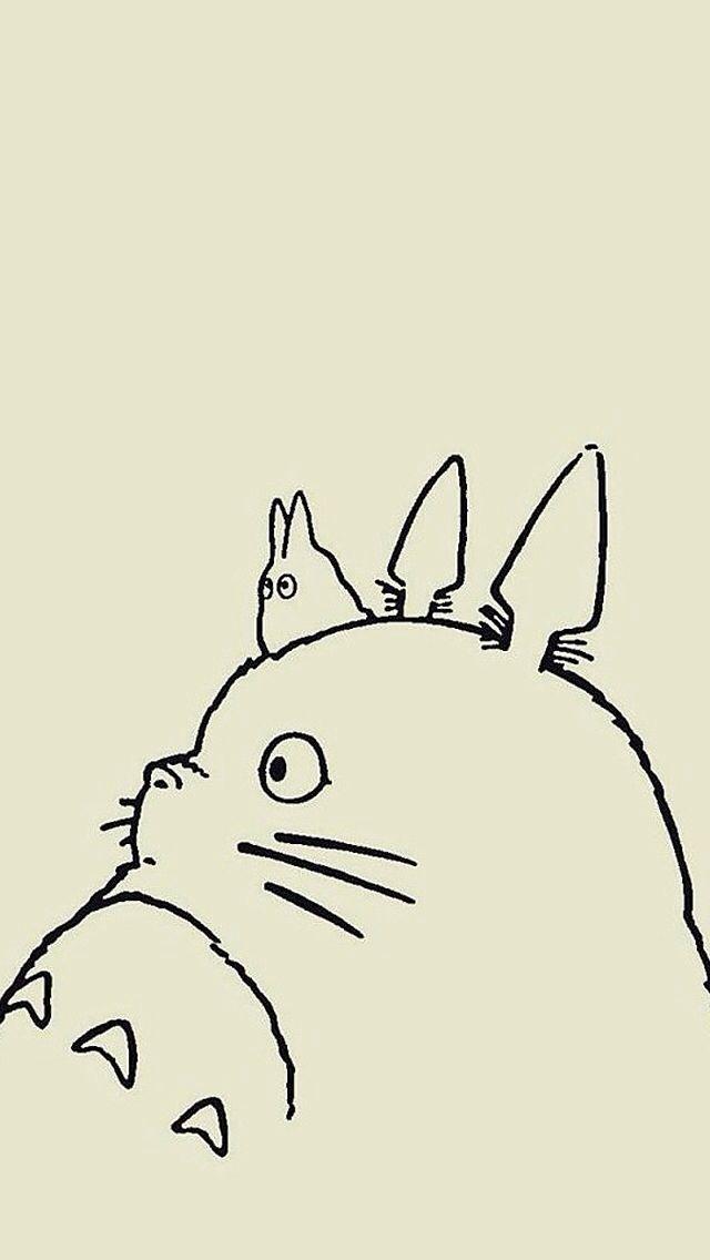 Iphone Wallpapers Cute Cat Totoro Totoro Dibujo Estudio Ghibli